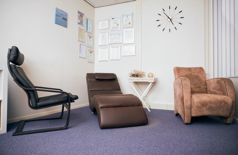 Hypnotherapie Blaauw behandelkamer